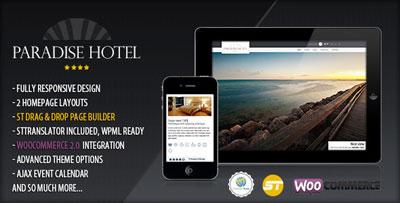 Paradise Hotel tema sensível do hotel wordpress