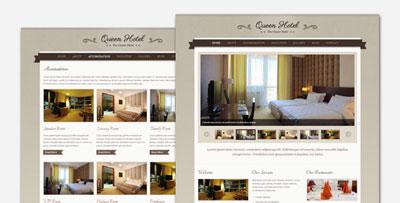 rainha hotel temático wordpress