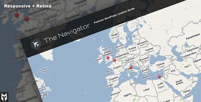 O tema Navigator WordPress